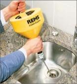 Устройство для чистки труб с ручным и электрическим приводом REMS Мини-Кобрa Rems