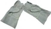 Кожаные перчатки с металлическими вставками D-SPG Electric Eel