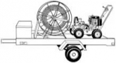 Барабан для спиралей вместимостью 150 м CR-1A Electric Eel