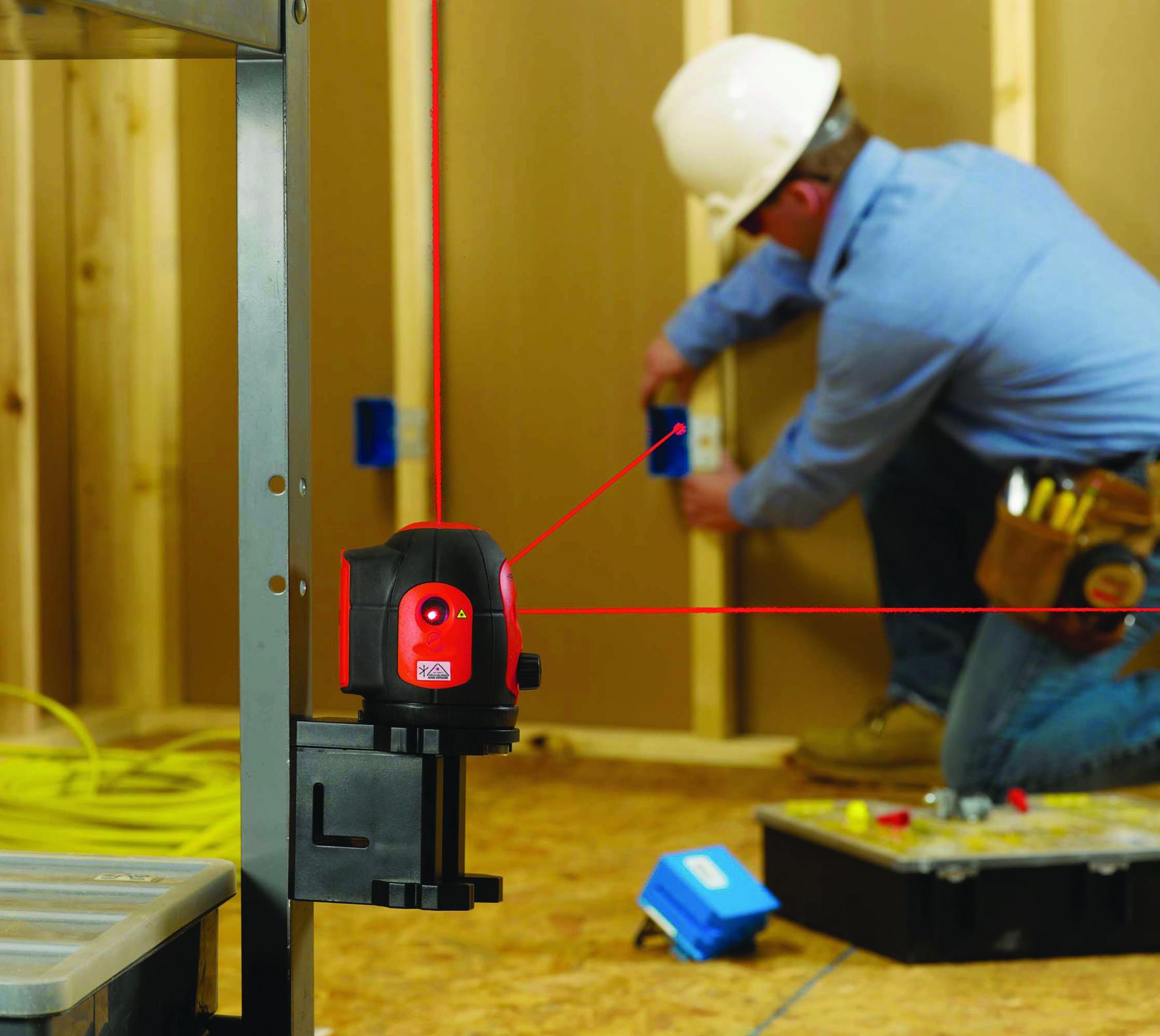 Пример использования самовыравнивающегося 5-ти точечного лазерного уровня micro DL-500 RIDGID
