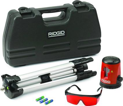 Комплектация самовыравнивающегося лазерного уровня с перекрестьем micro CL-100 RIDGID