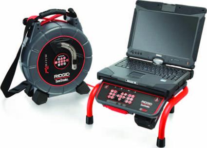 Устройство связи с ноутбуком SeeSnake LT1000M с инспекционной промышленной видеосистемой SeeSnake microReel RIDGID