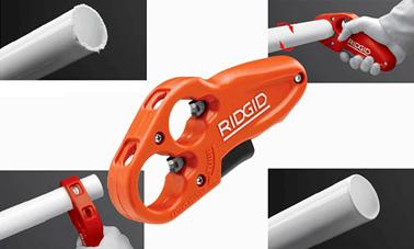 сравнение реза пилой и труборезом для пластиковых труб P-TEC 3240 RIDGID