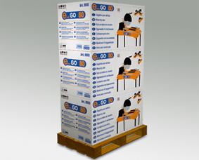 многоярусная паллетная флексографическая упаковка камнерезного станка E.. GO 80 Nuova Battipav Нуова Баттипав