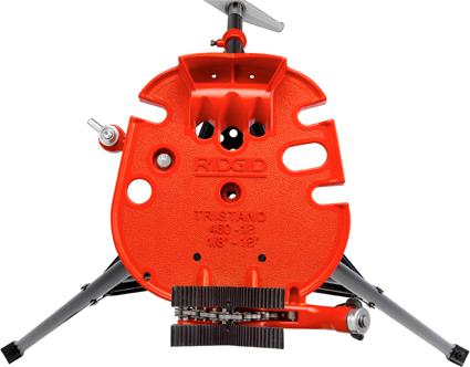 вид сверху переносного верстака с цепными тисками TRISTAND 460-12 RIDGID