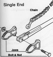 запасные части для одноконцевых двусторонних цепных трубных ключей рид reed